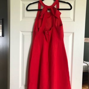 Vince Camuto red dress with bow - size 6 NWT